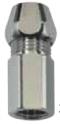 Gewindenippel mit DVGW-zugelassenem RV, mit Quetschverschraubung