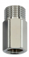 Gewindenippel mit DVGW-zugelassenem RV, ohne Quetschverschraubung